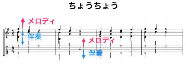 ちょうちょう 楽譜例3