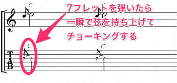 エレキギター チョーキング 装飾音符
