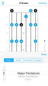 DAddario scales アプリ