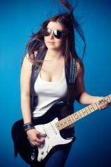 ギター,エレキギター,女性